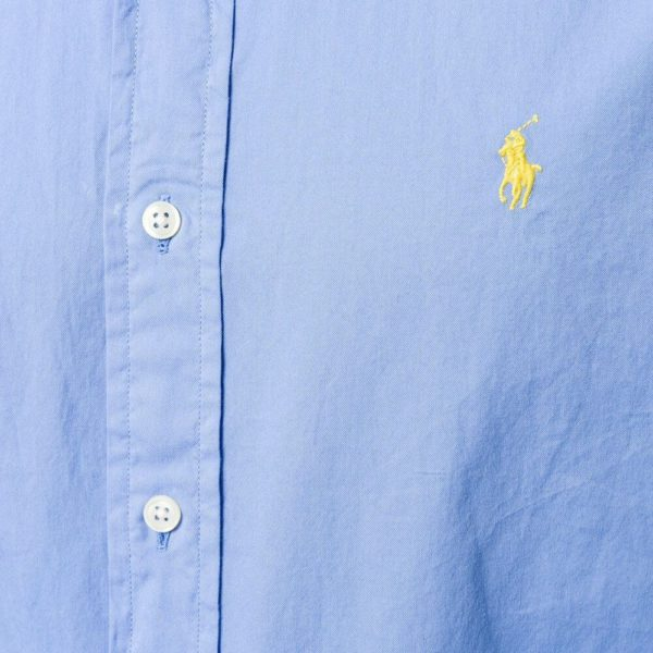 POLO RALPH LAUREN SLIM FIT STRETCH SHIRT BLUE 1
