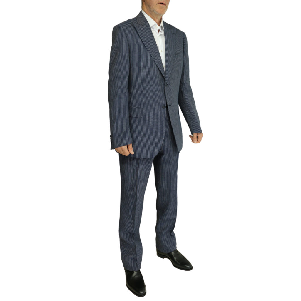 Pal Zileri striped suit navy1