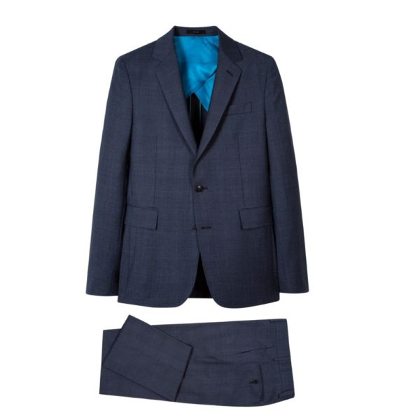 Paul Smith Mens Navy Wool Check Suit all