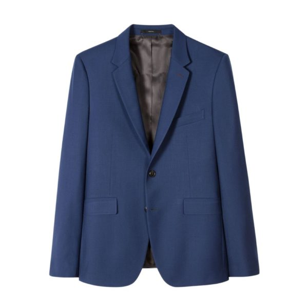 Paul Smith Mens Slim Fit Cobalt blue Wool Mohair Suit Ja