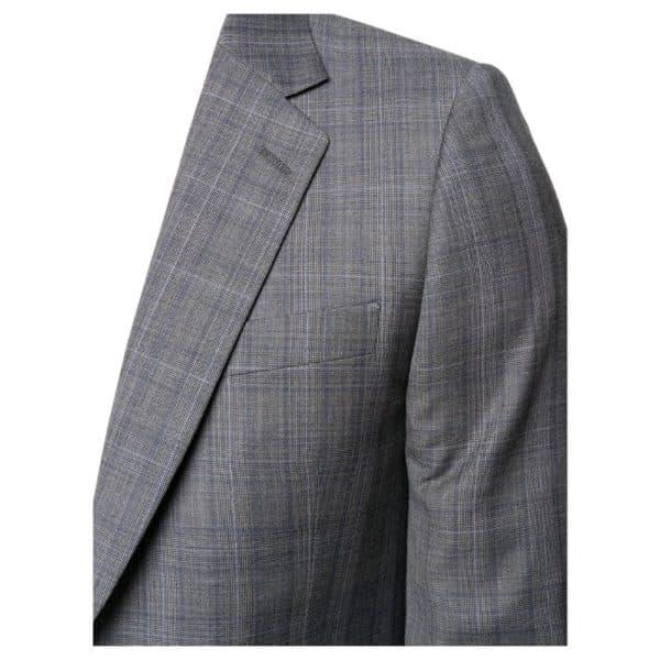 Paul Smith Mens Slim Fit Dark grey check wool suit close