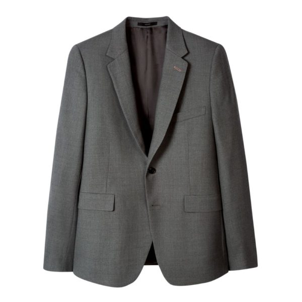 Paul Smith Mens Slim Fit Mid Grey Wool suit jacket