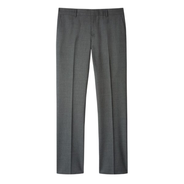 Paul Smith Mens Slim Fit Mid Grey Wool suit trousers
