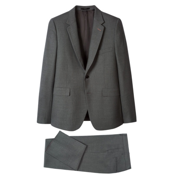 Paul Smith Mens Slim Fit Mid Grey Wool suit1