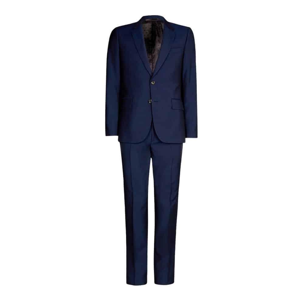 Paul Smith Mens Slim Fit dark blue Wool Mohair Suit back