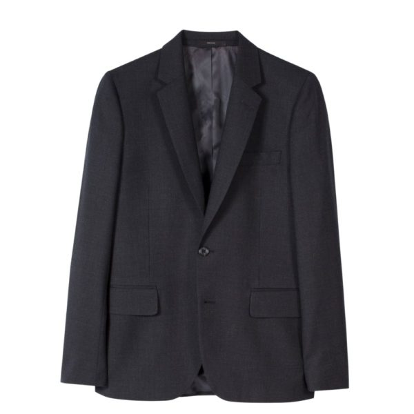 Paul Smith Mens Tailored Fit wool suit in Charcoal Jacket