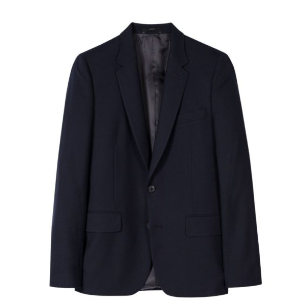 Paul Smith Mens Tailored Fit wool suit in Navy jacket