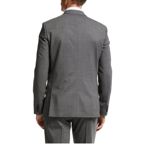 Paul Smith Mens Textured Grey Suit back V2