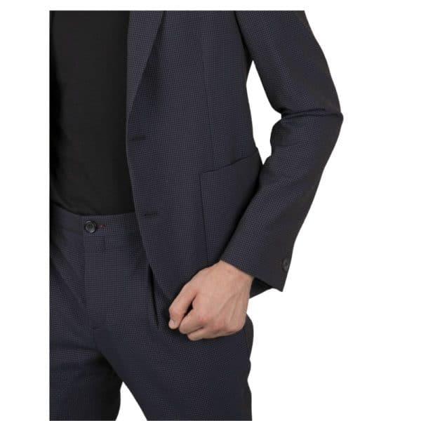 Paul Smith SEERSUCKER JACKET in a blue check pocket