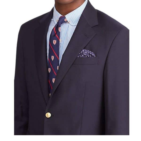 Polo Ralph Lauren Navy Wool Twill Blazer Close