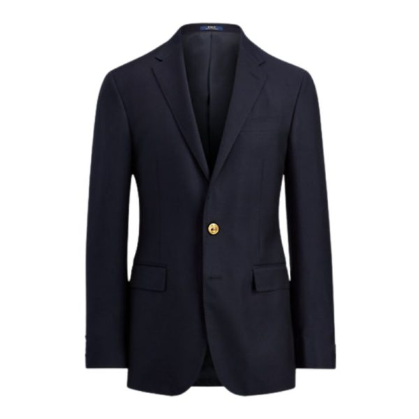 Polo Ralph Lauren Navy Wool Twill Blazer Front
