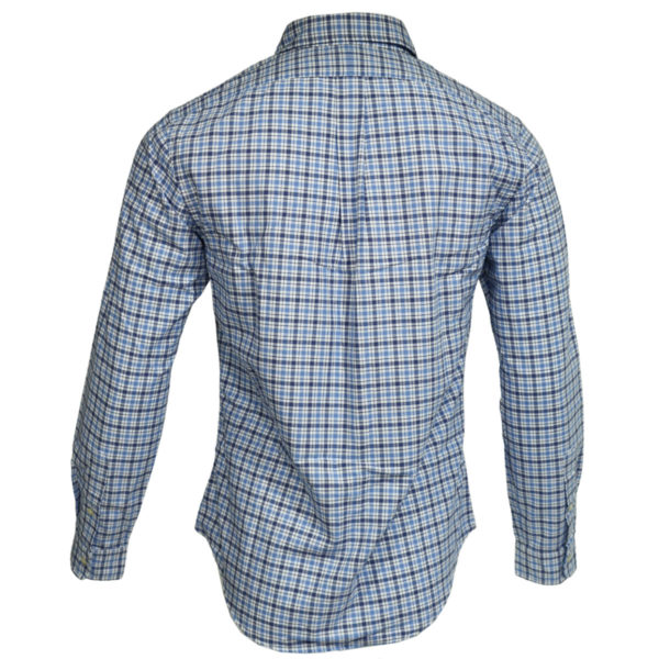 Polo Ralph Lauren blue check polo shirt back