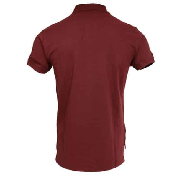 Polo Ralph Lauren burgundy polo shirt back