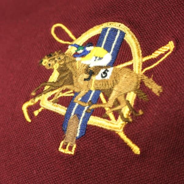 Polo Ralph Lauren burgundy polo shirt logo