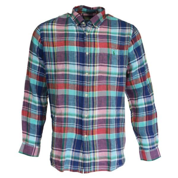 Polo Ralph Lauren shirt check pink and blue