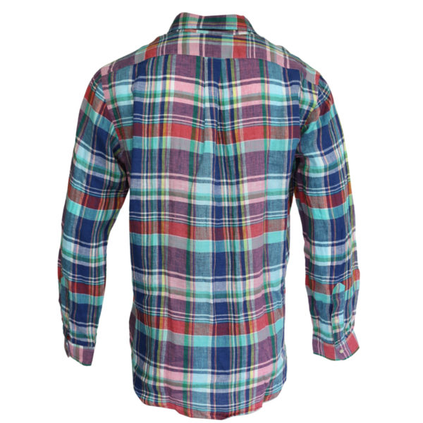 Polo Ralph Lauren shirt check pink and blue back