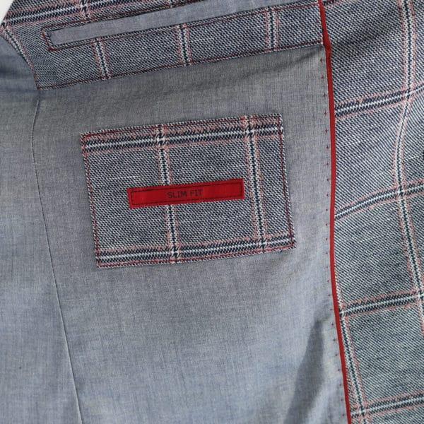 Roy Robson big check jacket lining detail