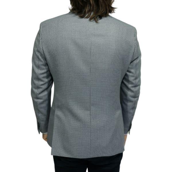 Roy Robson blazer jacket bamboo fabric navy back 1
