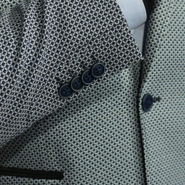 Roy Robson blazer jacket bamboo fabric navy detail button 1