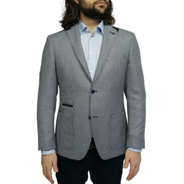 Roy Robson blazer jacket bamboo fabric navy front 1