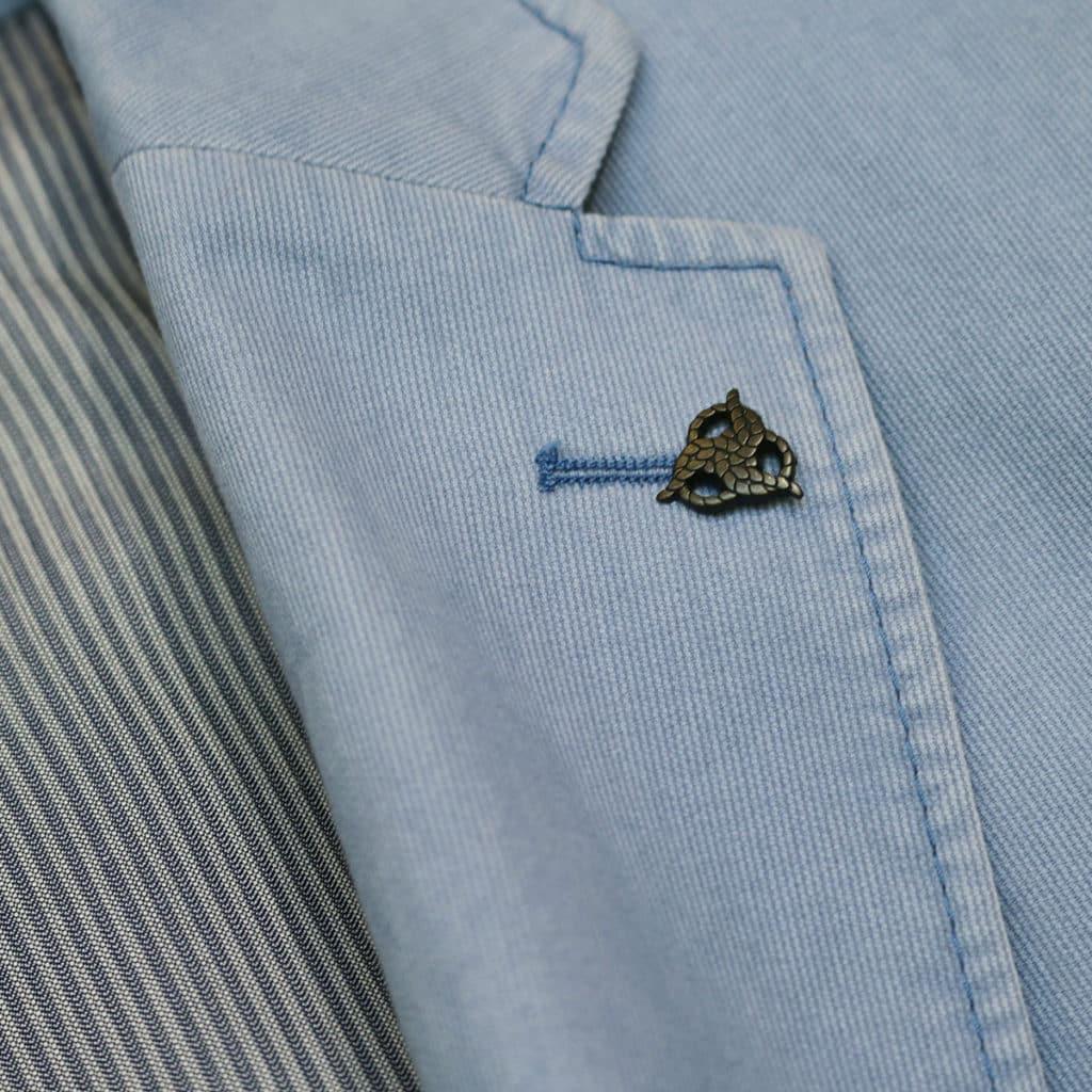 Roy Robson blazer jacket light blue logo detail