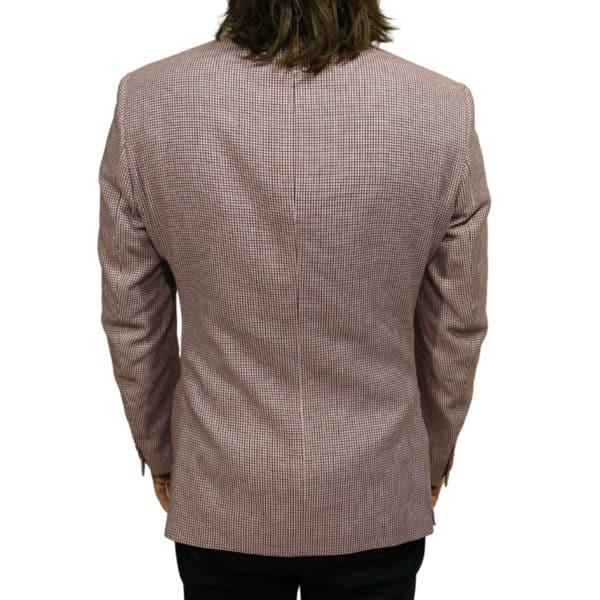 Roy Robson blazer jacket red check back