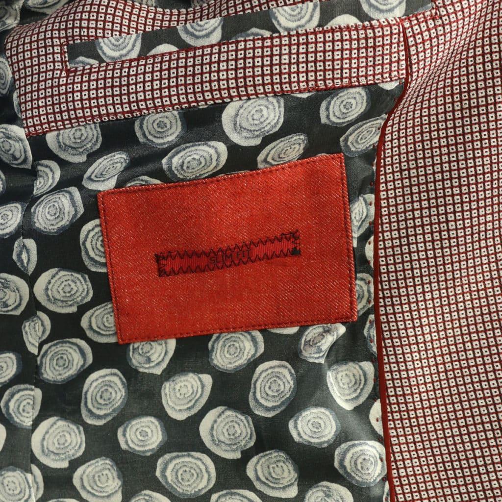 Roy Robson blazer jacket red check lining
