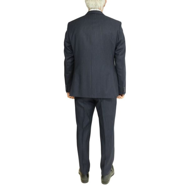 Roy Robson striped navy suit back