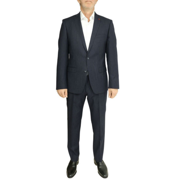 Roy Robson striped navy suit front