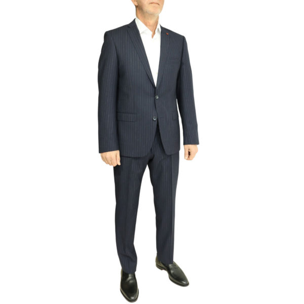 Roy Robson striped navy suit side