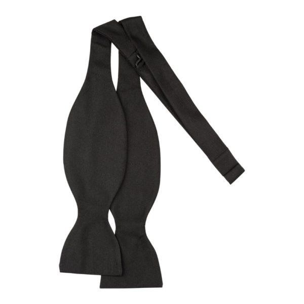 Simpson Ruxton Black Silk Self Tie Bow Tie