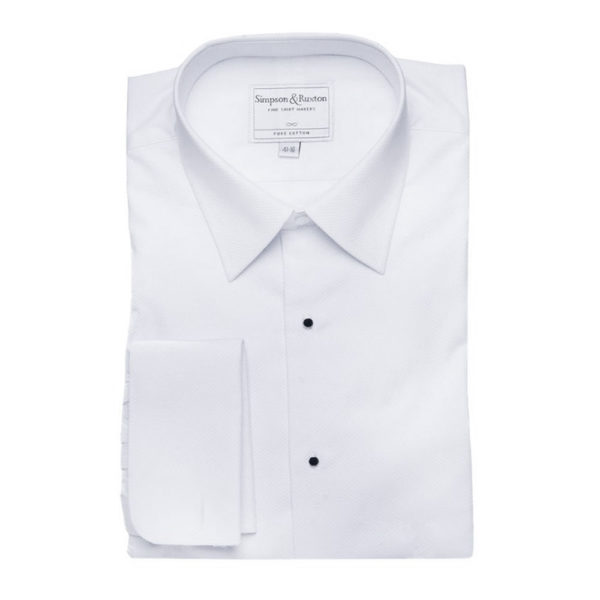 Simpson Ruxton Marcella Dress Shirt classic collar all white