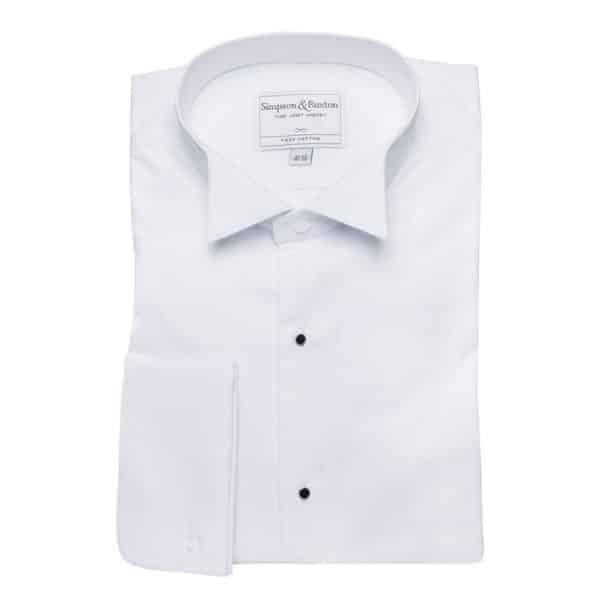 Simpson Ruxton Marcella Dress Shirt wing collar all white