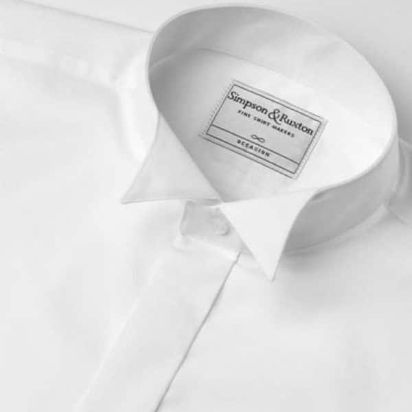 Simpson Ruxton Plain Wing Dress Shirt