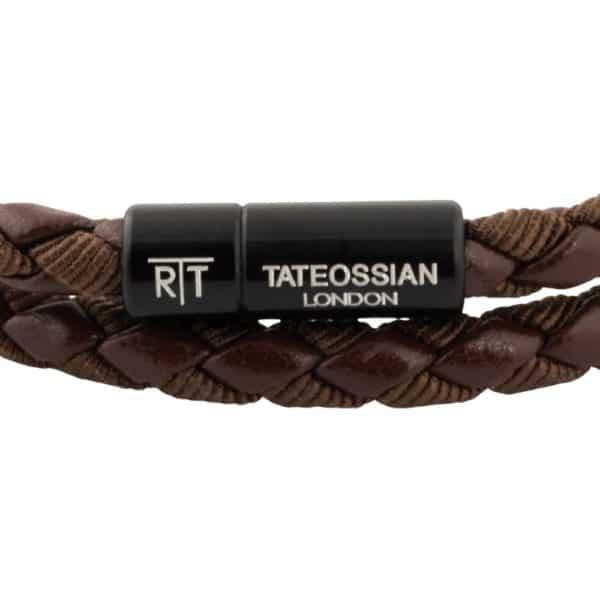 Tateossian Eco leather bracelet brown 1