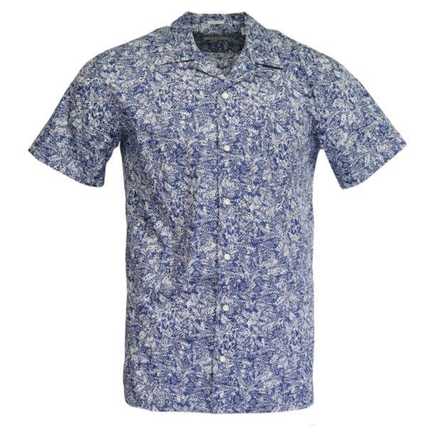 Thomas Maine short sleeve summer shirt navy
