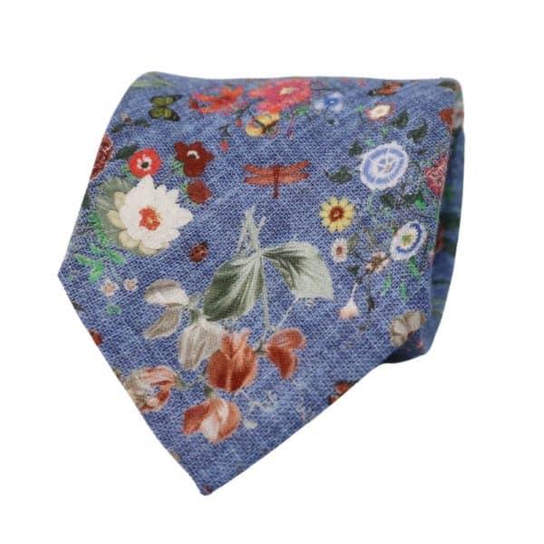 Van Buck Floral Tie Blue 1