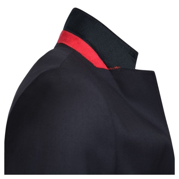 WARWICKS NAVY SINGLE BREASTED BLAZER collar