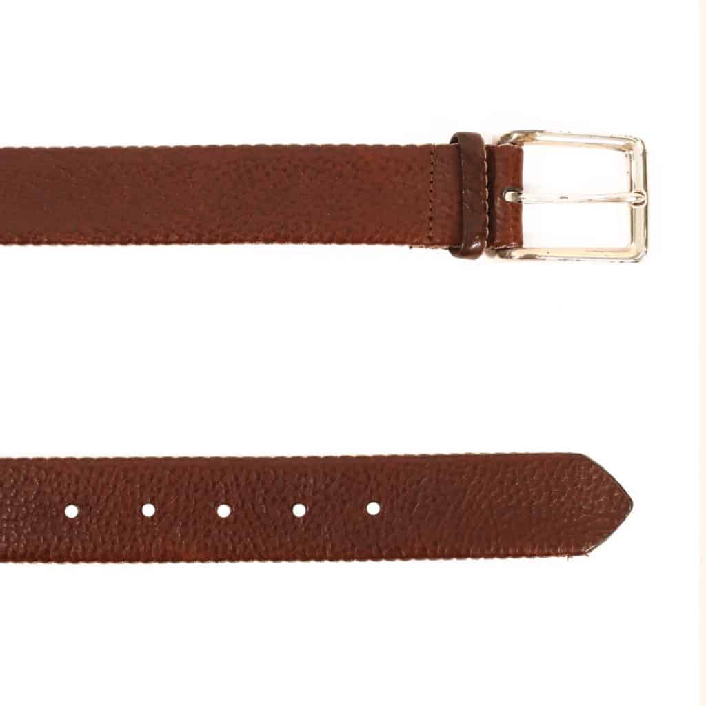 Warwicks brown leather belt