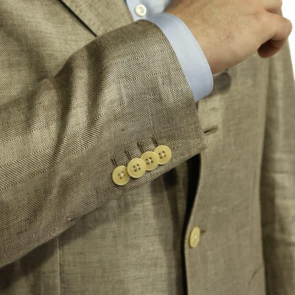 Warwicks linen blazer jacket button detail
