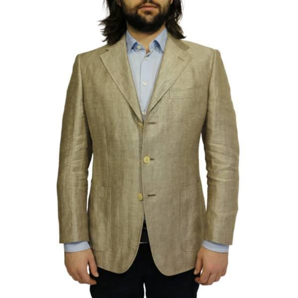 Warwicks linen blazer jacket front