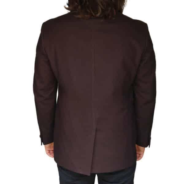 Without Prejudice Burgundy jacket back