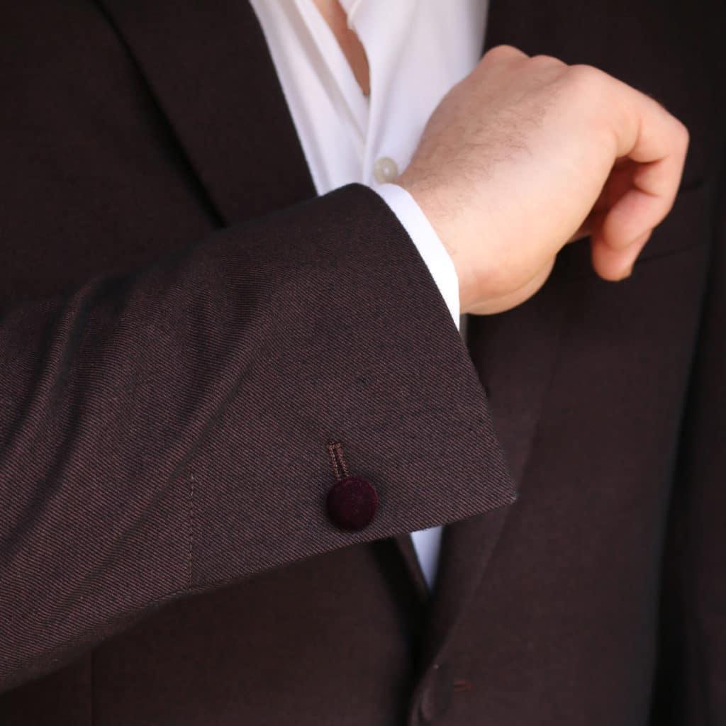 Without Prejudice Burgundy jacket button