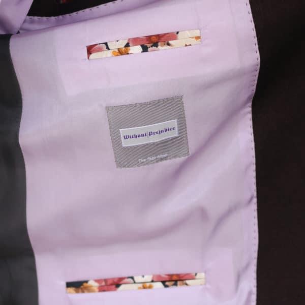 Without Prejudice Burgundy jacket lining