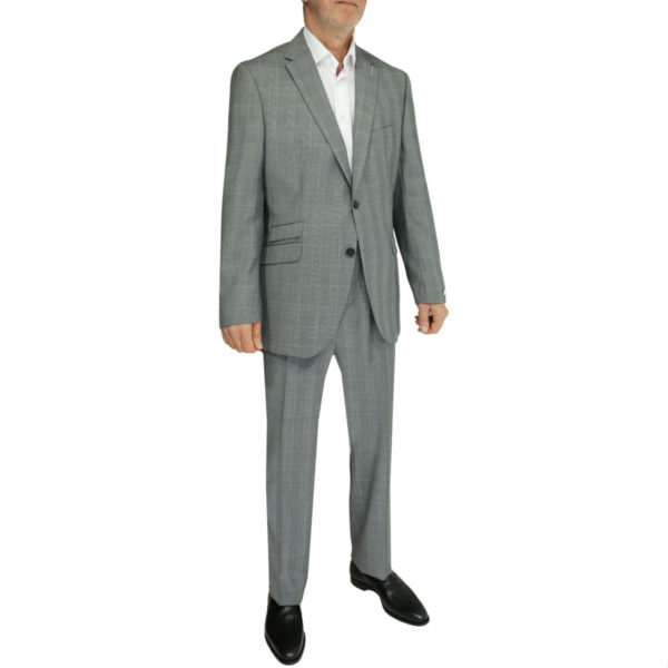 Without Prejudice grey check suit side