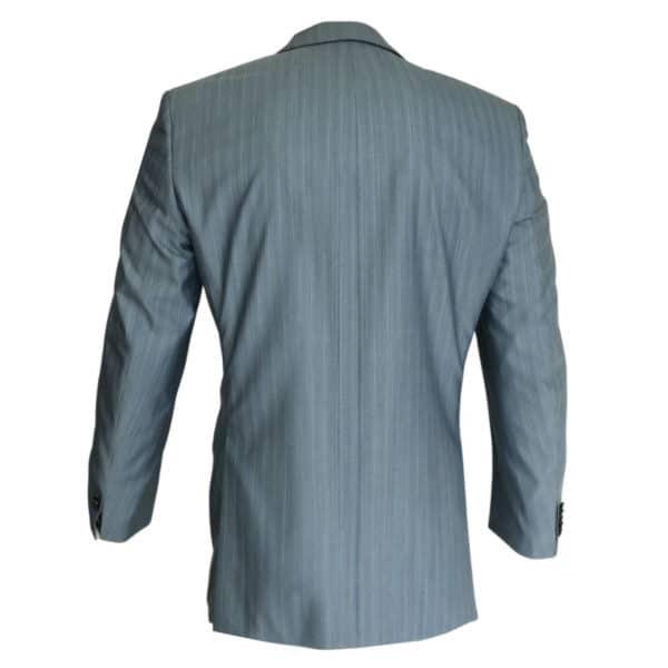 Without Prejudice grey striped suit jacket back
