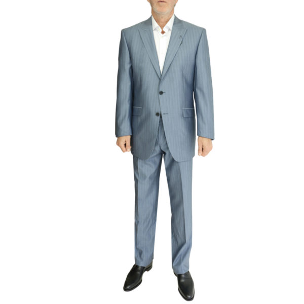 Without Prejudice grey striped suit1