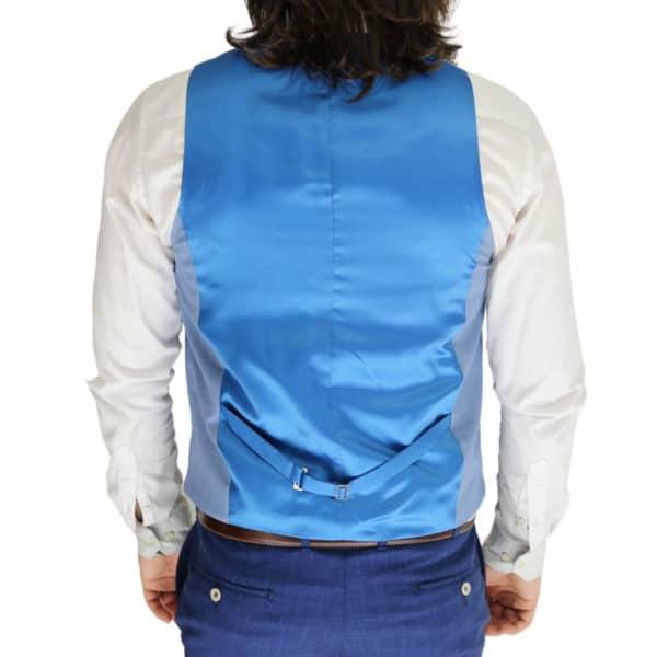 Without Prejudice vest blue back
