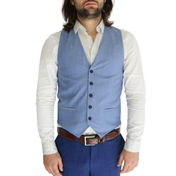 Without Prejudice vest blue front