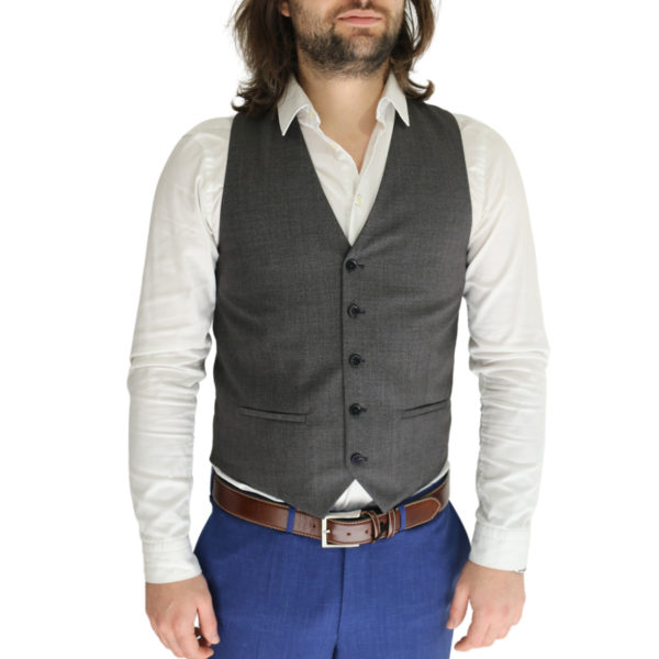 Without Prejudice vest grey and lilac front